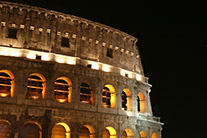 Coliseum at Night Rome, Italy